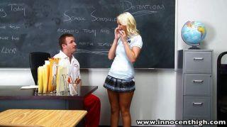 Blonde Schoolgirl Fucks Horny Coach