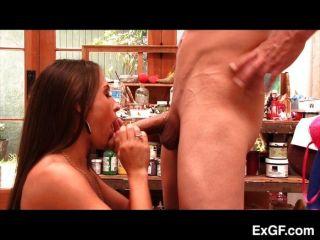 Ex Girlfriend Sucks Cock Dry