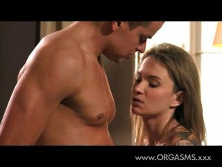 Passionate Young Blonde Girl Making Love