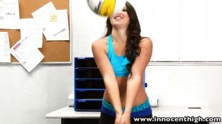 Perky Tits Volleyball Athlete Takes A Pounding