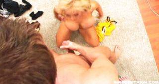 Blonde Sucking & Humping On Dick