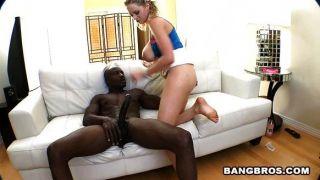 Busty Chick On Black Rod