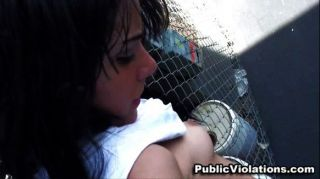 College Latina Fucked In Public