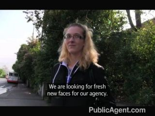 Publicagent - Blonde In Glasses Gets Fucked