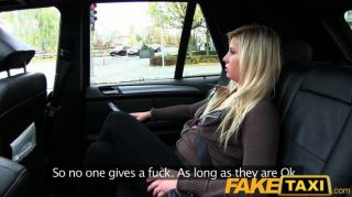 Faketaxi - Blonde Talked Into Suck And Fuck