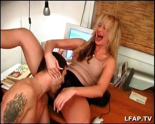 French Blonde Milf Ass Fucked At Office