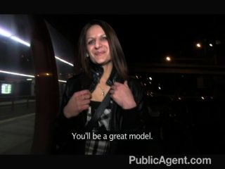 Publicagent - Romana Gets Tits Out In Public