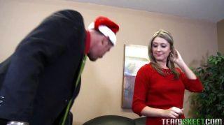 Sexy Schoolgirl Nina Lane Fucks Needy Santa