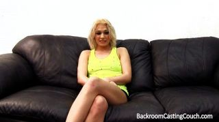 Blonde Backroom Cum Swallower