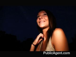 Publicagent - Brunette Paid For Sex
