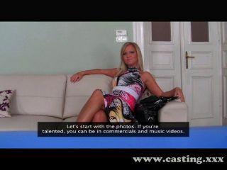 Fashion Model Gets Creampie Casting