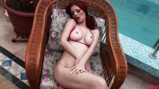 Bikini Girl Masturbating In Pool Chair