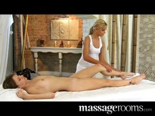 Beautiful Lesbian Oily Labia Massage