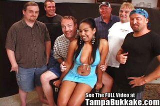 Latina Seductress Bukkake Orgy!