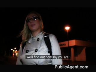 Publicagent - Blonde In Glasses Fuck Big Cock