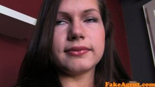 Fakeagent First Time Facial For Cute Brunette