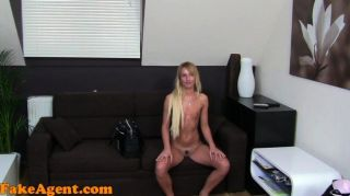 Fakeagent Shy Blonde Exploited In Casting