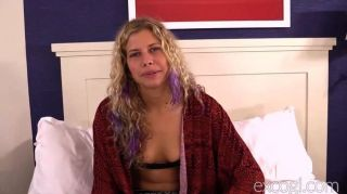 Blonde Hippie Fucked And Facialed