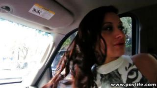 Busty Latina Punk Babe Fingered In The Car