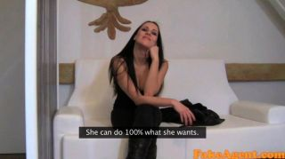 Fakeagent Black Haired Temptress Loves Doggy