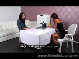 Femaleagent - Shy Beauty Practices Licking
