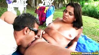 Latina Hottie Loves Outdoor Pussy Pounding