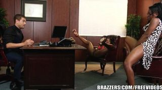 Brazzers - Dirty Office Threesome