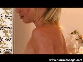 Blonde Casi James Nuru Massage And Blowjob