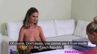 Femaleagent - Woman Loses Lesbian Virginity