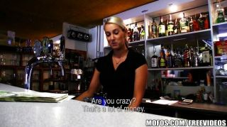 Hot Czech Bartender Paid For Quick Fuck