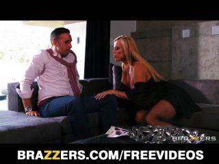 Busty Blonde Milf Amber Lynn Seduces Keiran