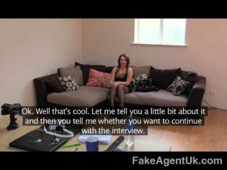 Fakeagentuk - Promise Of Cash Helps Brunette
