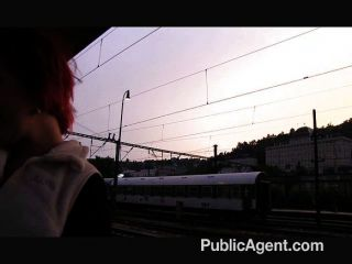 Redhead Alice Is Fucked Behind The Station