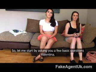 Fakeagentuk -  Italian And British Threesome