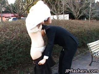 Japanese Flasher Gets Some Head