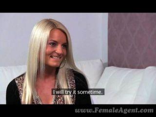 Femaleagent - Stunning Blonde Strikes A Deal