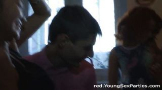 Foursome With Redhead And Asian Teen
