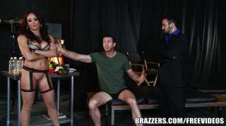 Slutty Brunette Actress Begs For Dp