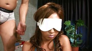 Pretty Face Is Blindfolded Before Two Horny G