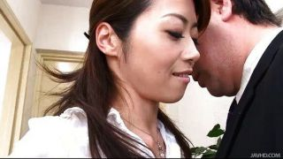 Japanese Slut Maki Hojo Sucks Big Cocks Like