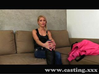 Casting Blonde Takes Mouthful Of Spunk
