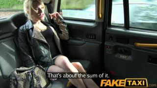 Faketaxi Skinny Blonde Swaps Pride For A Ride