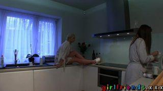Girlfriends - Lesbians Have Hot Kitchen Sex