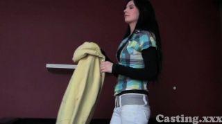 Casting - Shy Brunette Amateur Pumped