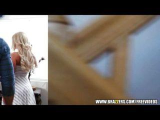 Perky Blonde Beauty Seduces A Virgin