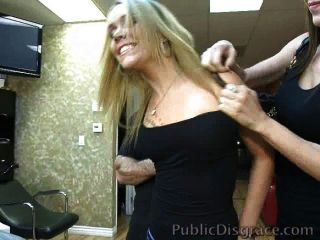 Slut Gangbanged In A Barber Shop