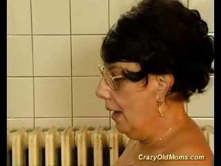 Brunette Busty Old Mom Gets Big Cock Fucked B