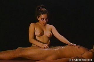 Oily Handjob Makes Him Cum