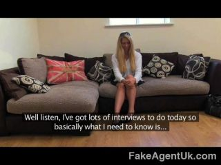 Fakeagentuk - Face Full Of Cum For Hot Blonde