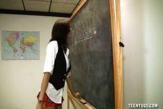 Schoolgirl Topless Handjob